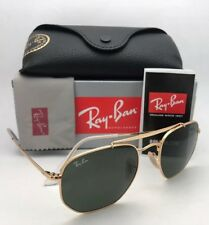 New RAY-BAN Sunglasses THE MARSHAL RB 3648 001 54-21 Gold Aviator w/ G-15 Green