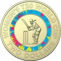 2020 $2 COIN - *ICC WOMEN'S T20 CRICKET WORLD CUP* -*COLOURED* - IN FOLDER - UNC