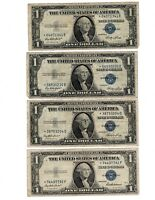 (4) 1935 One $1 Dollar Silver Certificate STAR Note Lot of 4