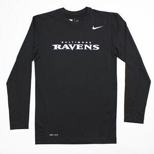 Baltimore Ravens Nike Dri-Fit Long Sleeve Shirt Men's Black New without Tags