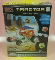 Rare METAL TECH BOX TRACTOR Leveling CREW CONSTRUCTION Toy NEW Sealed 113 Pieces
