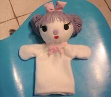 marionnette Ours Blanche NORDINE amie de COLARGOL fait main