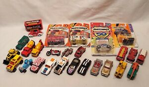 Lot of 26 Vintage Matchbox Cars Trucks Vehicles Superfast, Lesney, Loose, Carded