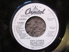 "TINA TURNER ""WE DON'T NEED ANOTHER HERO (THNDERDOME)"" (SAME) 1985 WLP W/PS EX/EX"