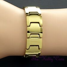 Magnetic Tungsten Arthritis CTS RSI Muscular Injury Unisex 24K Gold PLT Bracelet