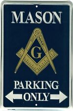 """Mason Parking Only 8"""" x 12"""" Metal Sign Garage Novelty Embossed Plaque Wall Decor"""