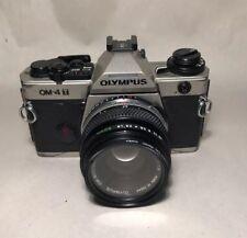 Olympus OM-4T 35mm SLR Film Camera Body & Zuiko Auto-zoom 1:1.8 f 50mm lens