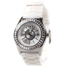 Aviator Ladies Crystal Watch AVW2712L06 Changeable Black & White Rubber Straps