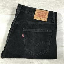 """Mens LEVIS 501 Black 36""""W 32""""L Vintage Denim Jeans 501s #B3493"""