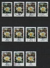 11x Blumen Seerose Bund Deutschland BRD 2017 Mi-Nr. 3303, gestempelt