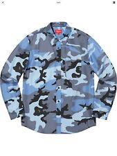 Supreme Silk Shirt Blue Camo SS19