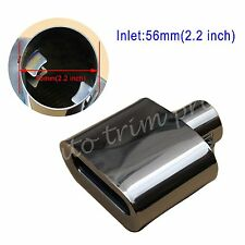 Universal 56mm 2.2 Inch Inlet Tail Muffler Rear Pipe End Tip Exhuast Trim Square