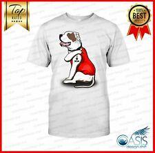 American Bulldog Dog I Love Mom Tattooed Men Shirt Mom Gift High Quality