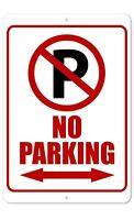 No Parking Arrow 8 x 12 Aluminum Sign | Indoor/Outdoor Sign