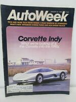 AutoWeek Magazine January 20 1986 Corvette Indy Nissan Tech Alfa Spider Veloce