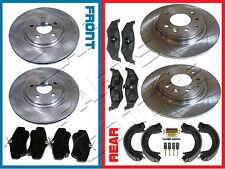 Para Chrysler PT Cruiser Frente y Parte trasera Almohadillas de Discos de freno Kit de montaje de estacionamiento Zapatos