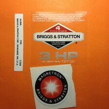 Briggs & Stratton 3-hp Sticker Decal Set 1980-1986 With Magnetron Set Of 3