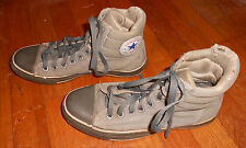 VTG Converse All Star High Tops Gray Padded Collar sz 7 Used