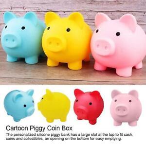 Piggy Bank Saving Coins Money Box Cash Fun Gift Plastic Pig Children Kids Toy