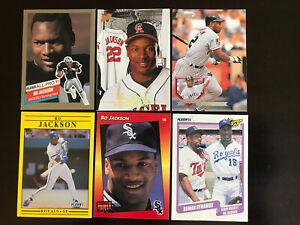 Bo Jackson card Lot Donruss Fleer 1990 - 1994 Lot Of 6