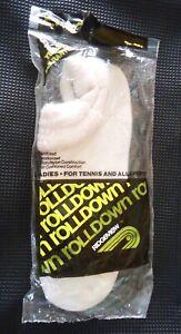 Vintage 85% Hi-Bulk Orlon White Roll Top Ankle Socks Women NEW in sealed package