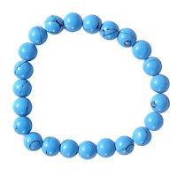 Turquoise Stone Chakra Healing Balance Beaded Bracelet Reiki Prayer Stone Unisex