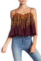 Free People Womens Instant Crush OB781347 Top Wide Egg Plant Purple Size XS