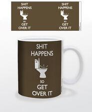 SH*T HAPPENS 11 OZ COFFEE MUG TEA CUP FUNNY LOL HUMOR DECOR SUPPLY COMIC AMUSING