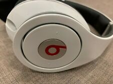 Beats By Dr Dre Studio Wired White Headphones Over Ear *BEAUTIFUL SOUND* BARGAIN