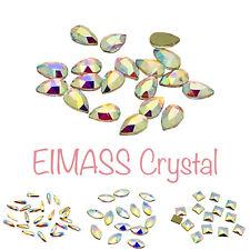 Nail Art Crystals, EIMASS® 8830 Tiny Cut Glass Rhinestones, Flat Back 3D Shapes