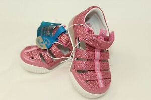 Surprize by Stride Rite Size 7 Toddler Light Up Pink Glitter Fisherman Sandals