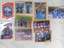 9 Images autocollants Panini Carrefour 2018 juste déballées équipe de France FFF