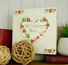 Vintage Flowers Memory Box - Large Wooden keepsake Box - Gifts for Her