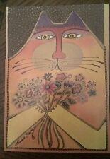 New Laurel Burch Cat A Big Bunch Of Love Birthday Card InterArt Card & Env