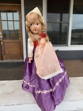Rare Antique Handpainted Dutch German Movable Doll with Kaiser Stand