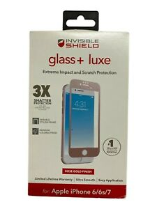 Zagg Glass + Luxe Screen Protector for iPhone 7 iPhone 8 & 6 (4.7inch) Rose Gold