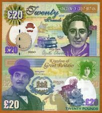 Great Britain, 20 pounds, 2018, Kamberra > Agatha Christie, Hercule Poirot