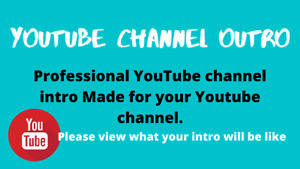YouTube Channel Outro or intro with your channel name