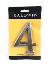 "Baldwin 90674151 Premium 5"" House Number 4 Solid Brass"