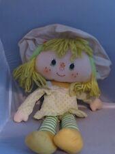 Vintage Strawberry Shortcake Lemon Meringue Rag doll Kenner 1980s
