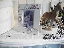 Cabochon Collier weiß Bilderrahmen Fotorahmen shabby Landhaus Amour Vintage 614