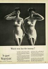 1954 WARNER'S LeGant girdles TWINS posing in bra and girdles VINTAGE PRINT AD