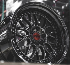 "18"" 18x9.5 / 18x10.5 ESR SR01 5x114.3 +22 Dark Chrome Wheels For 350Z 370Z Rims"