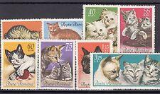 a122 - ROMANIA - SG3255-3262 MNH 1965 DOMESTIC CATS