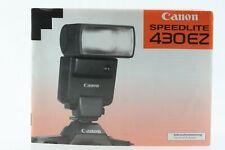 Bedienungsanleitung Canon Speedlite 430EZ 430 EZ