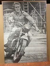 vintage Steve Mc Queen original poster black and white Large Size  6604