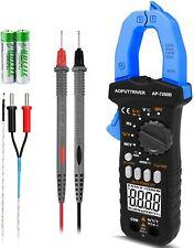 Trms 6000 Counts Digital Clamp Meter Non Contact Voltage Ac Dc Amp Volt Ohm Test