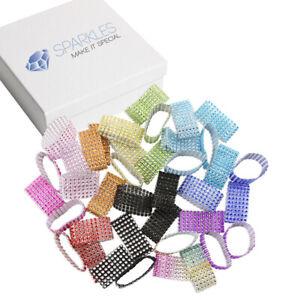 Diamond Crystal Rhinestone Napkin Rings - 19 Colors - wedding party sash holder