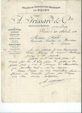 Papier ancien :    Lettre de recommandation sur un ouvrier