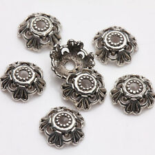 50Pcs Tibet Silver Flower Spacer Bead Caps Jewelry Findings DIY 8x3mm A0243-D50